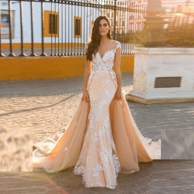 Designer Wedding Dresses A Line | Wedding dresses with lace online_3