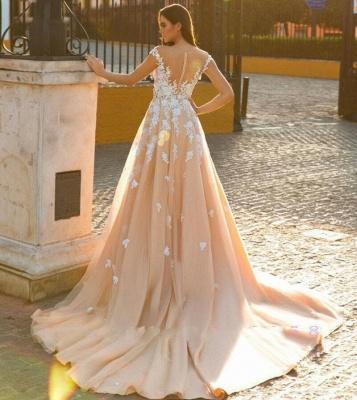 Designer Wedding Dresses A Line | Wedding dresses with lace online_2