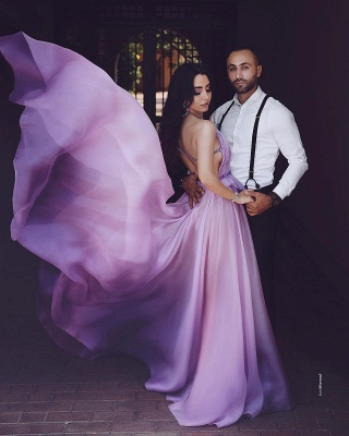 Purple Evening Dresses Long Cheap Floor Length Evening Dresses Online_3