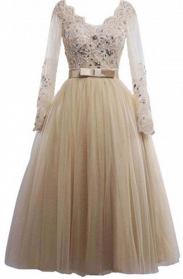 Buy simple wedding dresses with sleeves lace tulle wedding dresses online_1