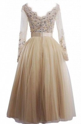 Buy simple wedding dresses with sleeves lace tulle wedding dresses online_2