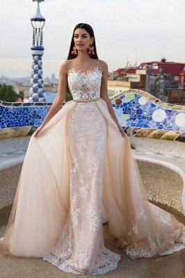 Elegant wedding dresses with lace tulle wedding dresses cheap online_1