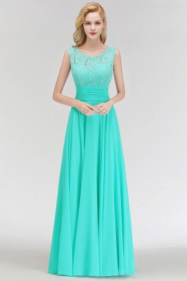 Mint Green Long Chiffon Bridesmaid Dresses With Lace Sheath Dresses For Bridesmaids_2