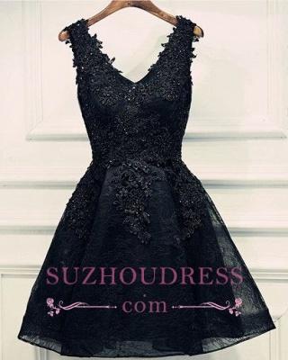 Cheap Cocktail Dresses Short Online A Line Straps Evening Dress Party Dresses_1