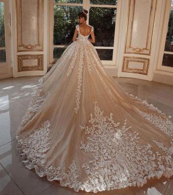 Luxus Hochzeitskleider Lang Glitzer | Brautkleider Prinzessin mit Spitze_3