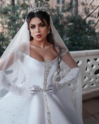 White Wedding Dress A Line | Kristal Wedding Dresses Cheap Online_4
