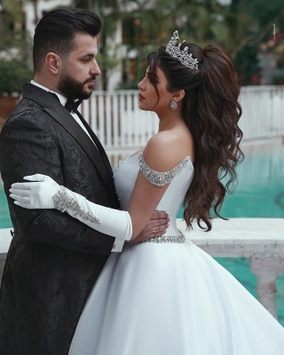 White Wedding Dress A Line | Kristal Wedding Dresses Cheap Online_3
