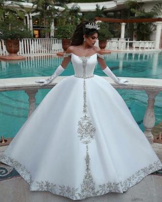 White Wedding Dress A Line | Kristal Wedding Dresses Cheap Online_1