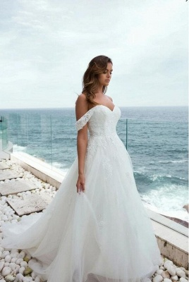 Designer Brautkleider mit Spitze | Hochzeitskleider A Linie Brautmoden_1