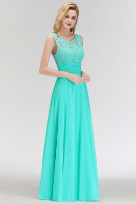 Mint Green Long Chiffon Bridesmaid Dresses With Lace Sheath Dresses For Bridesmaids_5