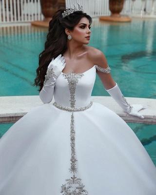 White Wedding Dress A Line | Kristal Wedding Dresses Cheap Online_2
