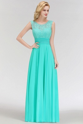 Mint Green Long Chiffon Bridesmaid Dresses With Lace Sheath Dresses For Bridesmaids_4