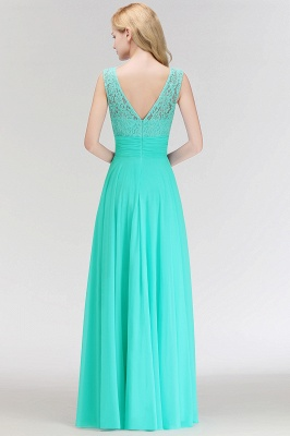 Mint Green Long Chiffon Bridesmaid Dresses With Lace Sheath Dresses For Bridesmaids_3