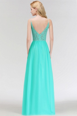 Cheap Bridesmaid Dresses Long Mint Green Erui Dresses With Lace_6