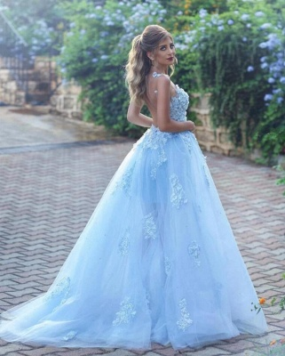 Elegant Evening Dresses Online Blue | Prom dresses long cheap_3