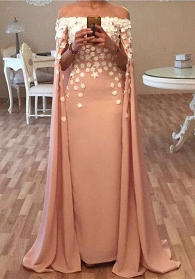 Cheap Prom Dresses Evening Dresses Long Satin Off Shoulder Floor-Length Evening Wear_1