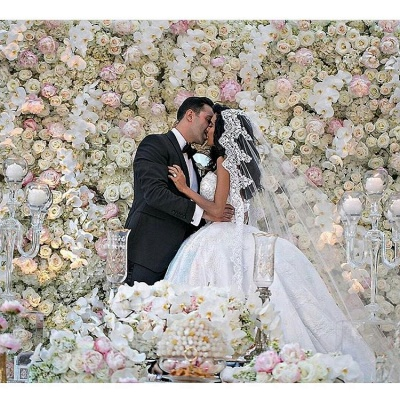 Weiße Brautkleider Mit Spitze Prinzessin Satin Brautmoden Hochzeitskleider Mit Schleppe_4