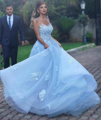 Elegant Evening Dresses Online Blue | Prom dresses long cheap_1