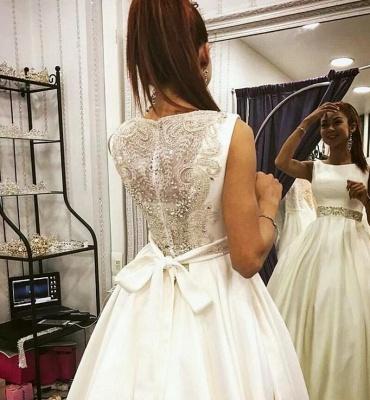 Elegante Brautkleider A Linie | Satin Hochzeitskleider Brautmoden Online_2