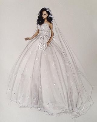 Weiße Brautkleider Mit Spitze Prinzessin Satin Brautmoden Hochzeitskleider Mit Schleppe_6