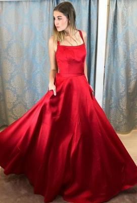 Rote Abendkleider Lang Günstig | Schlichte Abiballkleider Online_1