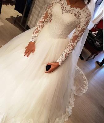 Elegantes Hochzeitskleid Mit Spitzenärmeln | Weise Brautmode Bodenlang_3