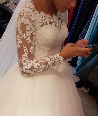 Elegantes Hochzeitskleid Mit Spitzenärmeln | Weise Brautmode Bodenlang_4