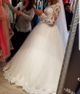 Elegantes Hochzeitskleid Mit Spitzenärmeln | Weise Brautmode Bodenlang_2