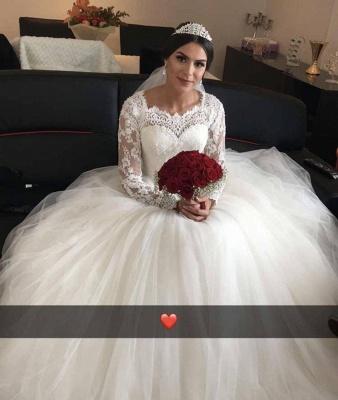 Elegantes Hochzeitskleid Mit Spitzenärmeln | Weise Brautmode Bodenlang_1