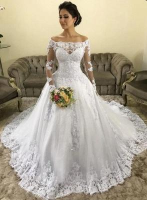 Fashion Hochzeitskleider mit Ärmel | Spitze Brautkleider Online Kaufen_1