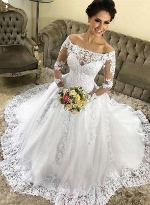 Fashion Hochzeitskleider mit Ärmel | Spitze Brautkleider Online Kaufen_2