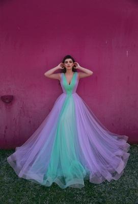 Designer Evening Dresses Long V Neck | Buy evening wear online_1