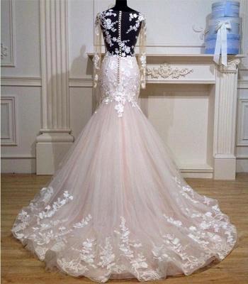 Designer Hochzeitskleider Mit Ärmel Tüll Kleider Brautkleider Spitze Online_2