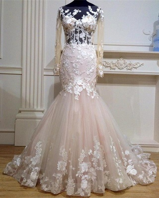 Designer Wedding Dresses With Sleeves Tulle Dresses Wedding Dresses Lace Online_1