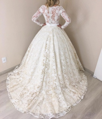 Modern bruat dresses with sleeves | Lace Wedding Dresses Cheap Online_3