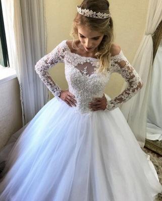 Wunderschöne Brautkleider Mit Ärmel | Hochzeitskleider Mit Spitze Online_2