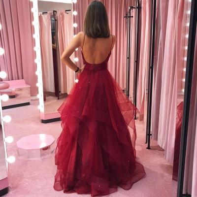 Designer Abendkleider Lang Rot | Abiballkleider Günstig Online_4