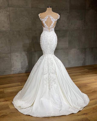Designer wedding dresses mermaid | Wedding dresses with lace online_2