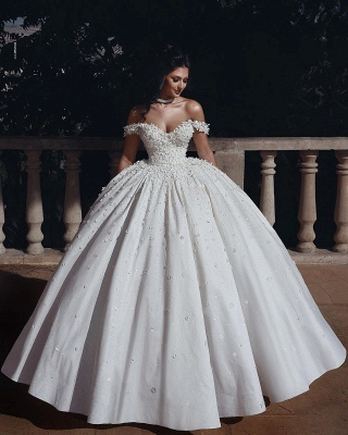 Fashion Hochzeitskleider Prinzessin Creme Bodenlang Brautkleider Günstig Online_2