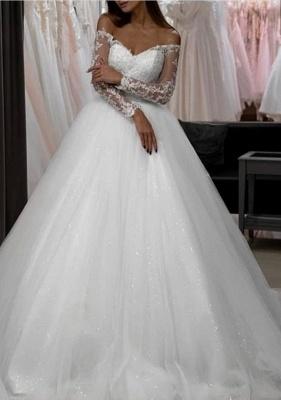 Modern Brautkleider A Linie | Hochzeitskleider mit Ärmel_1