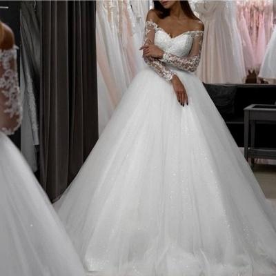 Modern Brautkleider A Linie | Hochzeitskleider mit Ärmel_2