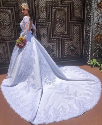 Modern Hochzeitskleider mit Ärmel | Günstig Brautmoden mit Spitze_2