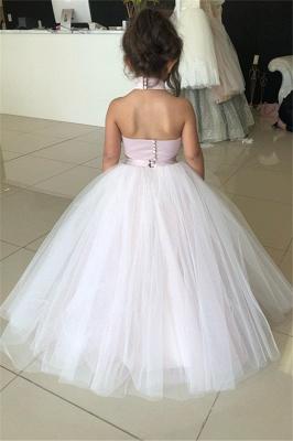 Weiße Blumenmädchenkleider Für Hochzeit 2 Teilige Kleider für Blumenkinder_3