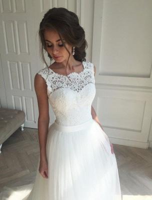 Elegant Brautkleider Weiß Mit Spitze Tüll Etuikleider Brautmoden Günstig Nach Mäßig_3