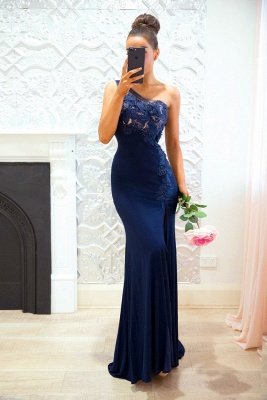Festive evening dresses long royal blue mermaid lace evening wear online shop_1