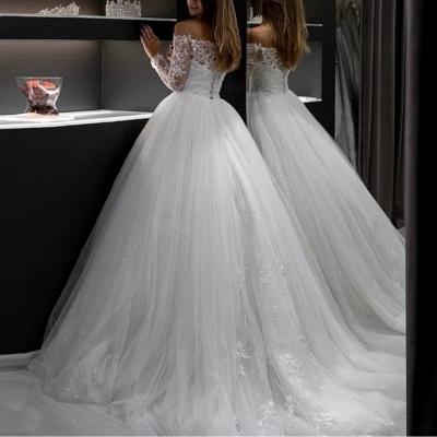 Modern Brautkleider A Linie | Hochzeitskleider mit Ärmel_3
