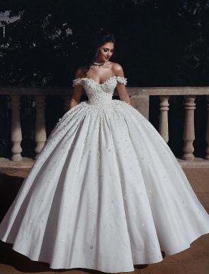 Fashion Hochzeitskleider Prinzessin Creme Bodenlang Brautkleider Günstig Online_1