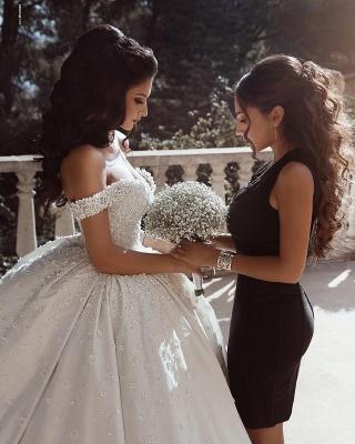 Fashion Hochzeitskleider Prinzessin Creme Bodenlang Brautkleider Günstig Online_4