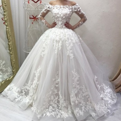 Designer wedding dresses with sleeves | Wedding dresses a line with lace_2