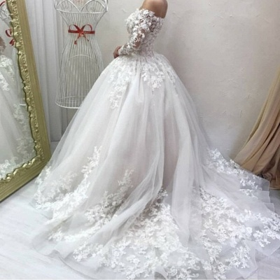 Designer wedding dresses with sleeves | Wedding dresses a line with lace_3